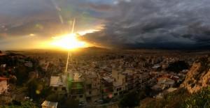 Athén naplemente