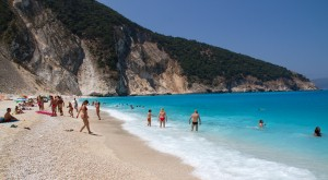 Kefalónia Myrtos tengerpart