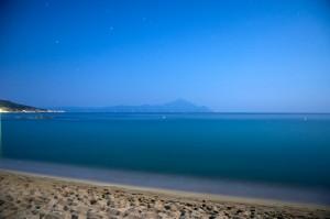 Athos hegy éjszaka