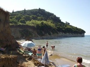 Sidari strandolók