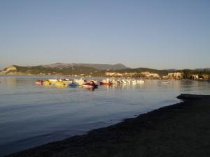 Sidari tengerpart, vízibiciklik
