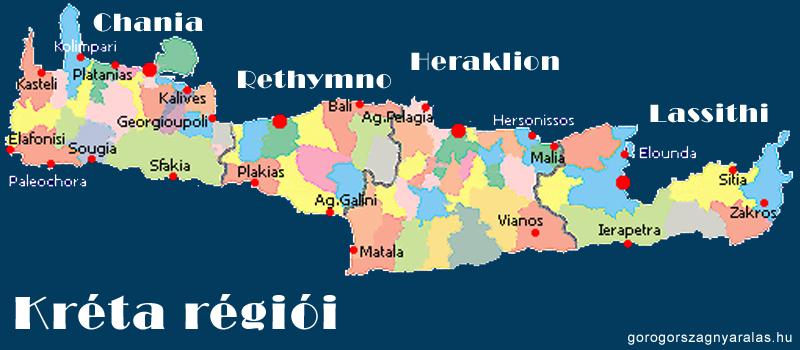 Kréta régiói