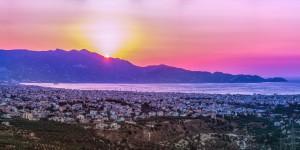Kréta Heraklion napnyugta
