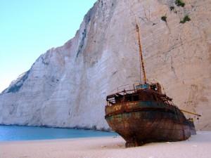 Zakynthos Navagio öböl hajóroncs