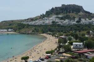 Rodosz Lindosz Akropolisz és strand