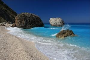 Lefkada, Megali Petra strand