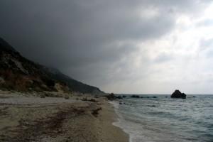 Lefkada Kalamitsi strand borúsan