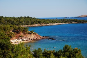 Görögország Thászosz tájkép