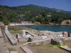 Thászosz Aliki, romok