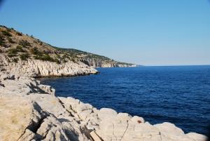 Thászosz sziklás tengerpart
