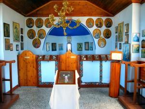 Thaszosz Limenas, egy kis templomban
