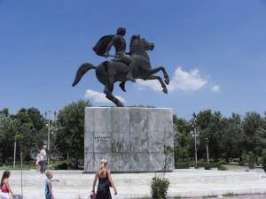 Thessaloniki Nagy Sándor szobra