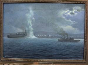 Török hadihajó Szalonikiben